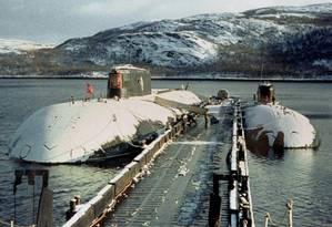 Na foto, o submarino russo Kursk, nos anos 2000 Foto: ITAR-TASS / AFP PHOTO