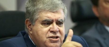 O deputado Carlos Marun (PMDB-MS), durante sessão da CPI da JBS Foto: Jorge William/Agência O Globo