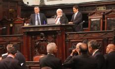 o clima na Assembleia Legislativa do Rio (Alerj), na tarde desta terça-feira, era de incerteza Foto: Alerj / LG Soares