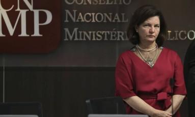 A procuradora-geral da República, Raquel Dodge, participa de sessão do Conselho Nacional do Ministério Público Foto: José Cruz/Agência Brasil/14-11-2017