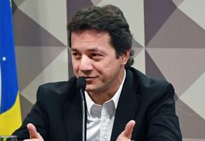 Wesley Batista, um dos donos da J&F, depões na CPI da JBS Foto: Evaristo Sá/AFP/08-11-2011