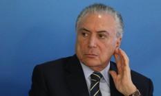O presidente Michel Temer, durante evento no Palácio do Planalto Foto: Ailton de Freitas / Ailton de Freitas/Agência O Globo