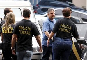 O ex-governadores do Estado do Rio de Janeiro Anthony Garotinho foi preso e levado a sede da Polícia Federal nesta manhã, no Rio Foto: Pablo Jacob / O GLOBO