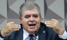 O deputado Carlos Marun (PMDB-RS), durante sessão da CPI da JBS Foto: Jorge William / Jorge William/Agência O Globo/08-11-2017