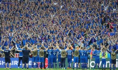 Seleção da Islândia fez história na última Eurocopa Foto: Thibault Camus 22-06-2016 / AP