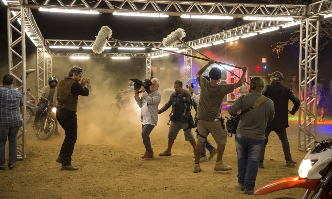 """Gravação: a chegada do poderoso Pedro Gouveia (Alexandre Nero), conhecido como """"O rei de Sertão"""", numa festa da região Foto: Divulgação/TV Globo/Estevam Avellar"""
