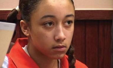 Cyntoia Brown no julgamento Foto: Reprodução/Instagram