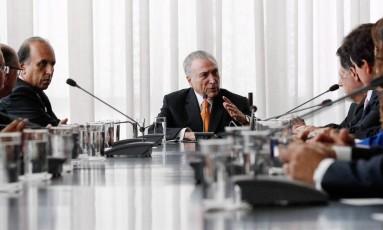 Presidente Michel Temer durante encontro com governadores no Palácio da Alvorada. Foto: Marcos Correa/PR