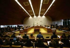 Sessão do Supremo Tribunal Federal Foto: Jorge William/Agência O Globo