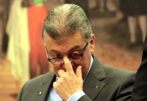 Aldemir Bendine, ex-presidente da Petrobras e do Banco Brasil -14/10/2015 Foto: Givaldo Barbosa / Agência O Globo