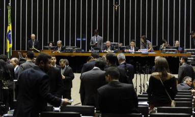 Sessão no plenário da Câmara dos Deputados Foto: Luis Macedo/Câmara dos Deputados
