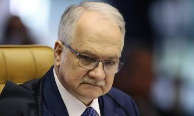 O ministro Edson Fachin, do Supremo Tribunal Federal Foto: Jorge William / Jorge William/Agência O Globo/