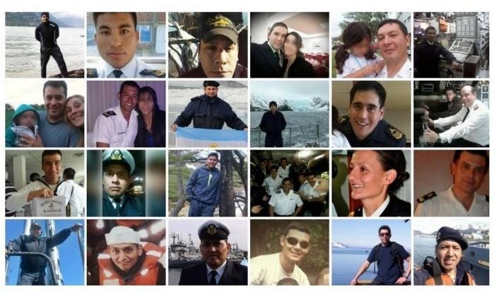Resultado de imagem para desaparecidos do submarino argentino