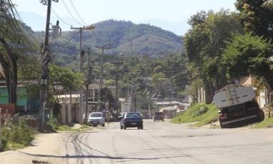 Estrada das Palmeiras, onde os sete corpos foram encontrados, no dia 11 de novembro Foto: Fábio Guimarães/17.06.2016 / Agência O Globo