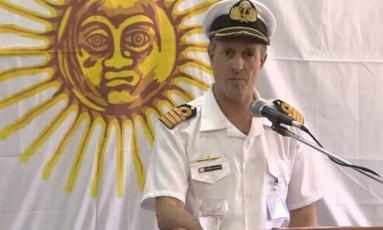 O porta-voz da Marinha argentina, Enrique Balbi Foto: Reprodução vídeo