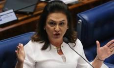 Senadora Kátia Abreu no plenário do Senado - 25/08/2016 Foto: Ailton de Freitas / Agência O Globo