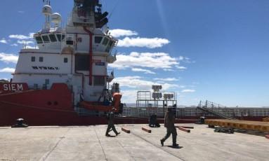 O porto de Comodoro Rivadavia Foto: Pablo Riffo Torres, especial para O Globo