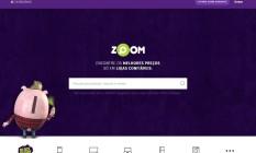 O site do Zoom Foto: Reprodução