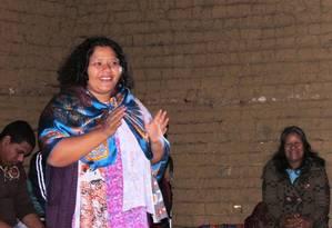 Professora Poty Porã celebra criação de vestibular exclusiva para indígenas Foto: Reprodução/Facebook