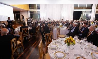 Jantar com deputados da base aliada para apresentar novo relatório da reforma da Previdência Foto: MARCOS CORREA / Marcos Corrêa/Presidência/22-11-2017