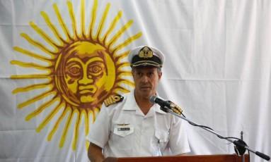 Porta-voz da Marinha, Enrique Balbi fala com a imprensa Foto: La Nación/GDA