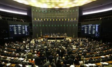 Sessão do Congresso Nacional Foto: Ailton de Freitas / Agência O Globo 22/11/2017