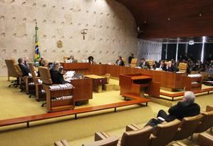 O plenário do Supremo Tribunal Federal Foto: Ailton de Freitas / Agência O Globo