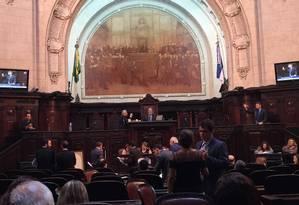 Sessão na Assembleia Legislativa do Rio Foto: Selma Schmidt / Agência O Globo