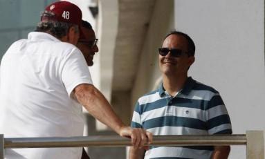 Abel e Abad: conversa para definir futuro Foto: Nelson Perez/Fluminense FC/20.10.17