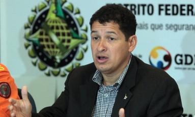 17/06/2013: Sandro Avelar durante entrevista, quando era secretário de segurança pública do Distrito Federal Foto: Givaldo Barbosa / Agência O Globo