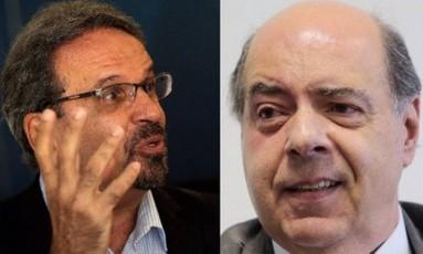 Marcelo Guimarães (esquerda) e Nelson Mufarrej são os candidatos à presidência do Botafogo Foto: Agência O Globo