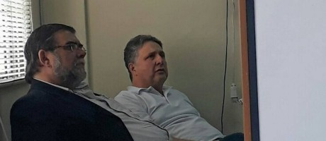 O ex-governador Anthony Garotinho presta depoimento após denunciar que foi agredido Foto: