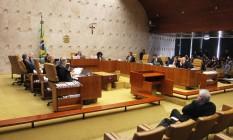 Plenário do Supremo Tribunal Federal (STF) durante julgamento das regras do foro privilegiado Foto: Ailton de Freitas / Agência O Globo
