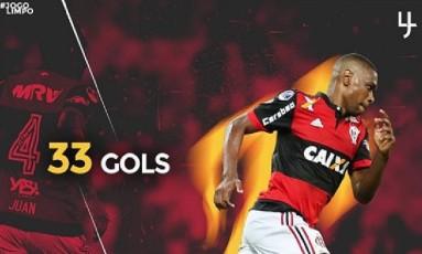 Juan comemora o 33º gol pelo Flamengo Foto: Reprodução