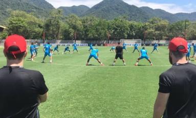 Sport treinou pela manhã no CT do Flamengo Foto: Reprodução Internet
