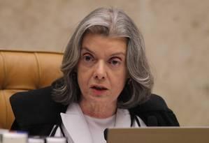A ministra Cármen Lúcia preside sessão no plenário do STF Foto: Ailton de Freitas / Ailton de Freitas/Agência O Globo/23-11-2017