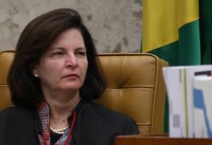 A procuradora-geral da República, Raquel Dodge, durante sessão do Supremo Foto: Givaldo Barbosa/Agência O Globo/26-10-2017