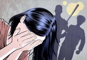 Adolescente detida e forçada a trabalhar fugiu de Heysan em 2013. Hoje, tem 22 anos Foto: Dominic Bugatto / Ilustração/Washington Post