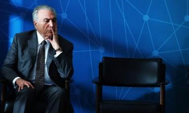 Michel Temer deve ficar internado por dois dias na Unidade Coronariana do hospital Foto: Ailton de Freitas 23-11-2017 / Agência O Globo