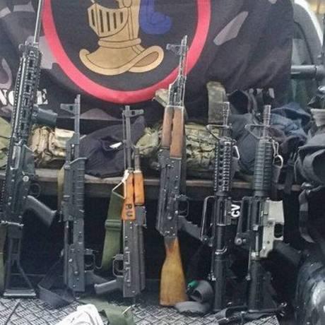 Polícia apreendeu sete fuzis Foto: PMERJ/Reprodução