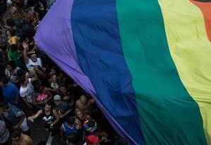 A bandeira do arco-íris é símbolo da comunidade LGBT Foto: LEO CORREA / AFP
