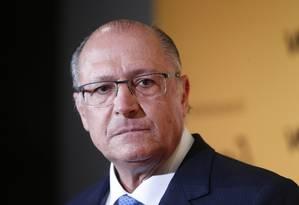 O governador Geraldo Alckimin Foto: Marcos Alves / Agência O Globo