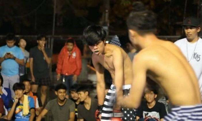 Clube da luta na Tailândia Foto: Divulgação