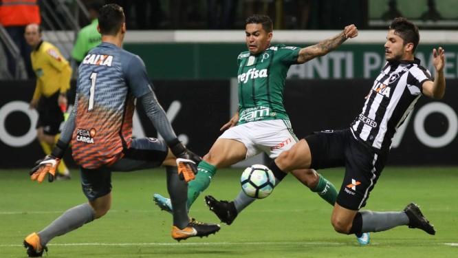 510d5d00a8 Dudu teve boa atuação na vitória do Palmeiras sobre o Botafogo Foto   Ricardo Moreira
