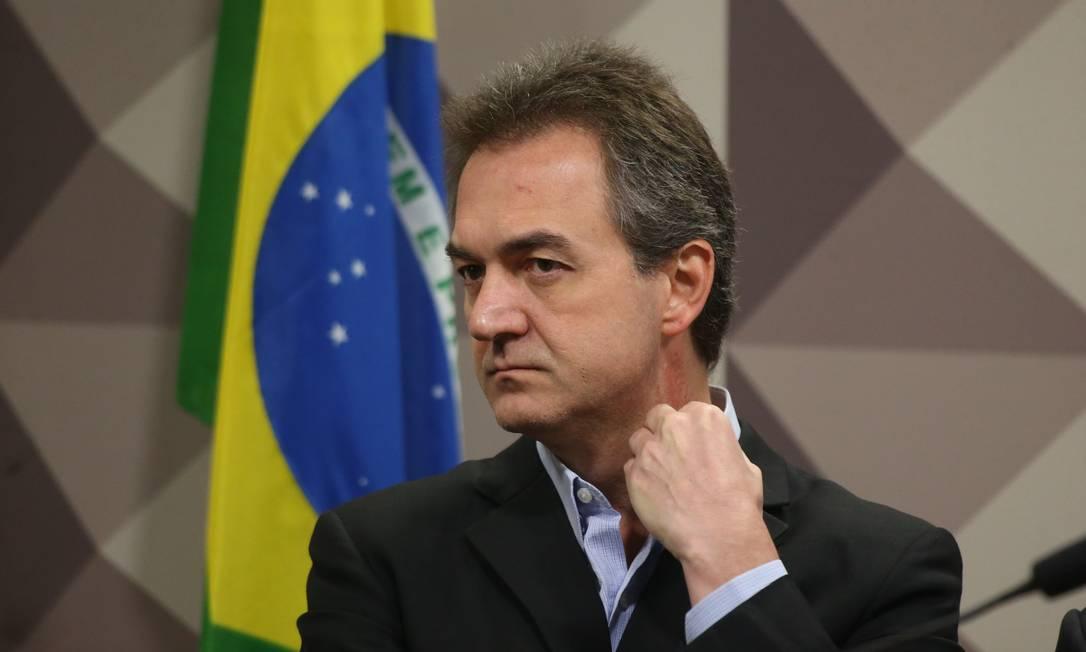 O empresário Joesley Batista, um dos donos da JBS, em depoimento às CPIs da JBS e do BNDES Foto: Ailton Freitas / Agência O Globo
