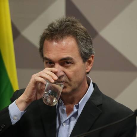 O empresário Joesley Batista, um dos sócios da JBS, presta depoimento CPI da JBS Foto: Ailton Freitas / Agência O Globo