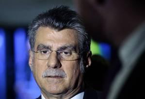 O senador Romero Jucá (PMDB-RR), presidente do PMDB e líder do governo no Senado Foto: Jorge William / Jorge William/Agência O Globo/21-11-2017