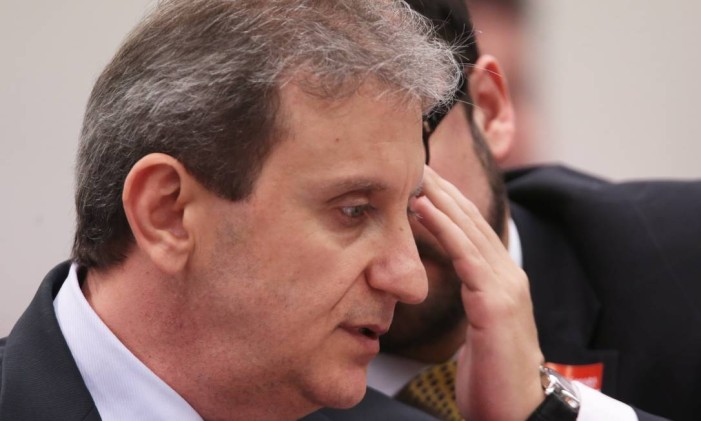 Depoimento do doleiro Alberto Youssef na CPI dos Fundos de Pensão Foto: Jorge William / Agência O Globo