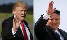 Trump e Kim: pressão dos EUA através de sanções encontra uma Coreia do Norte indisposta ao diálogo Foto: MANDEL NGAN ED JONES / AFP