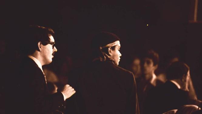 Augusto Marzagão e Wilson Simonal no IV Festival Internacional da Canção em 5 de outubro de 1969 Foto: Agência O Globo / Arquivo